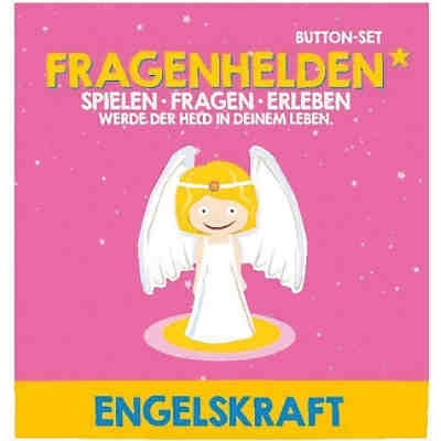 Fragenhelden Button: Engelskraft
