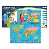 Карта мира ZanZoon интерактивная, в коробке