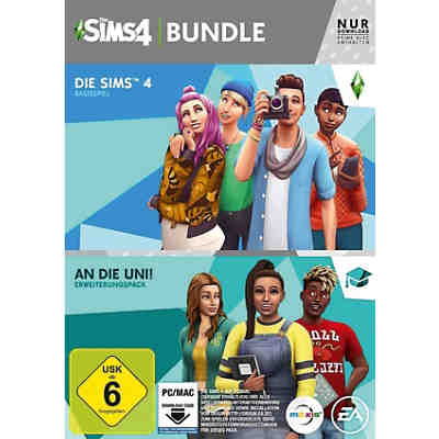 PC SIMS 4 inkl. An die Uni, CODE IN A BOX