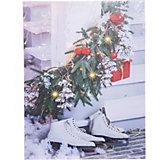 Рождественская картина House of seasons белая