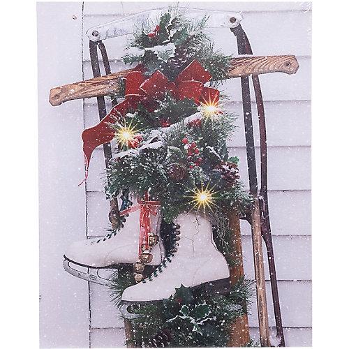 Рождественская картина House of seasons с санками от House of Seasons