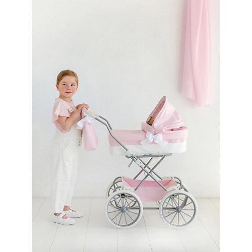 Коляска для кукол La Nina, розовая с белым от La Nina