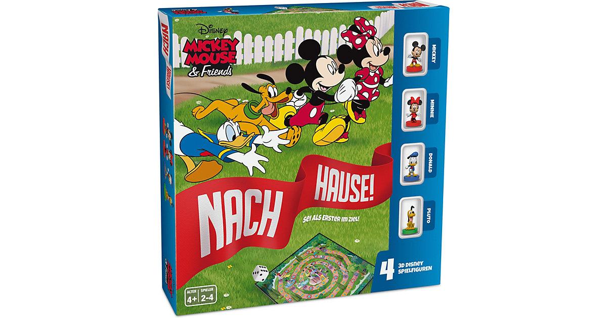 Disney Mickey Mouse & Friends - Nach Hause - Das Würfelspiel um den Wettlauf zum Ziel mit detailgetreuen 3D Disney Spielfiguren