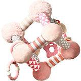 Развивающая игрушка BabyOno Tiny Yoga Cube, розовая