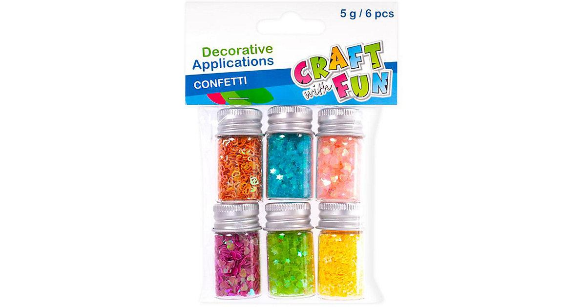 Konfetti Mix - Polybeutel mit Röhrchen in 6 Farben á 5 g
