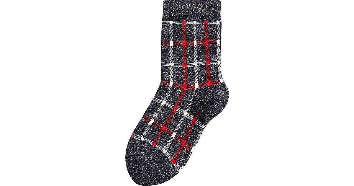 Socken mit Glitzer  dunkelblau Gr. 23-26 Mädchen Kleinkinder