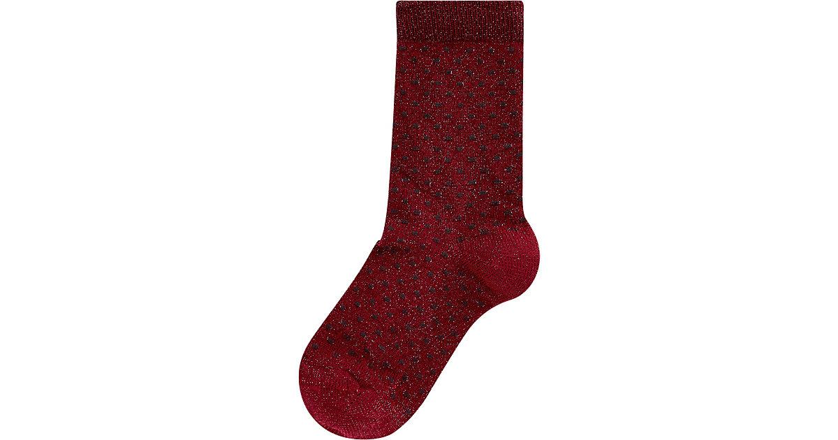 Socken mit Glitzer  rot Gr. 23-26 Mädchen Kleinkinder