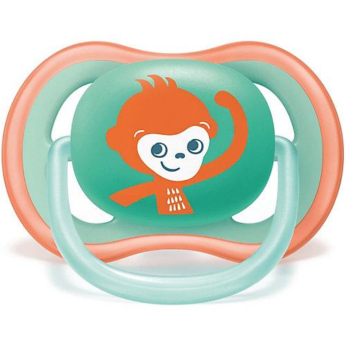 Пустышка Philips Avent Ultra Air с 18 мес, 2 шт, обезьяна/ленивец от PHILIPS AVENT