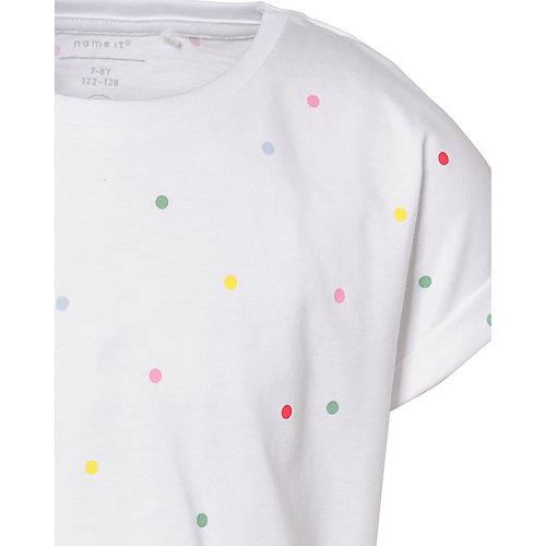 Комплект Name it: футболка и шорты - белый от name it