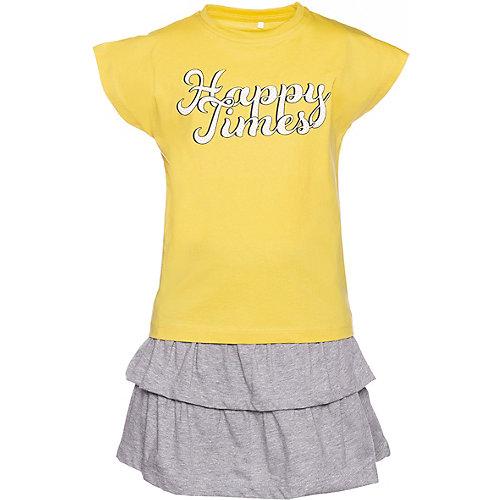 Комплект Name it: футболка и юбка - желтый от name it