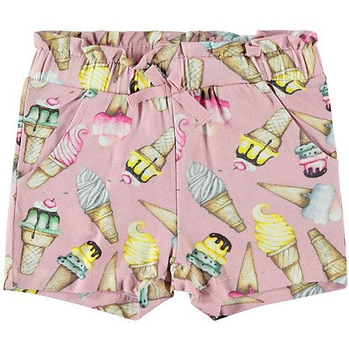 Комплект Name it: футболка и шорты - светло-розовый от name it