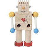 """Конструктор Plan Toys """"Робот"""", 5 деталей, бежевый"""