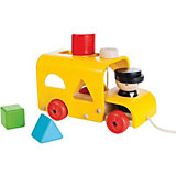 """Сортер-каталка Plan Toys """"Автобус"""", желтый"""