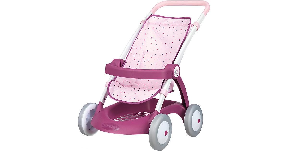 Baby Nurse Puppenwagen mit Ablage rosa/lila