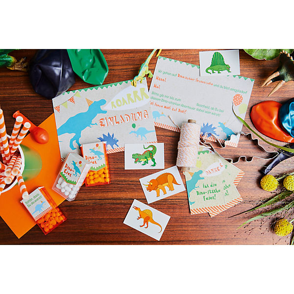 Roooaar Dinosaur Party Box, Bis 6 Personen, mit T-Rex Ballons und Tattoos als Gastgeschenke, in a box® f0khAb