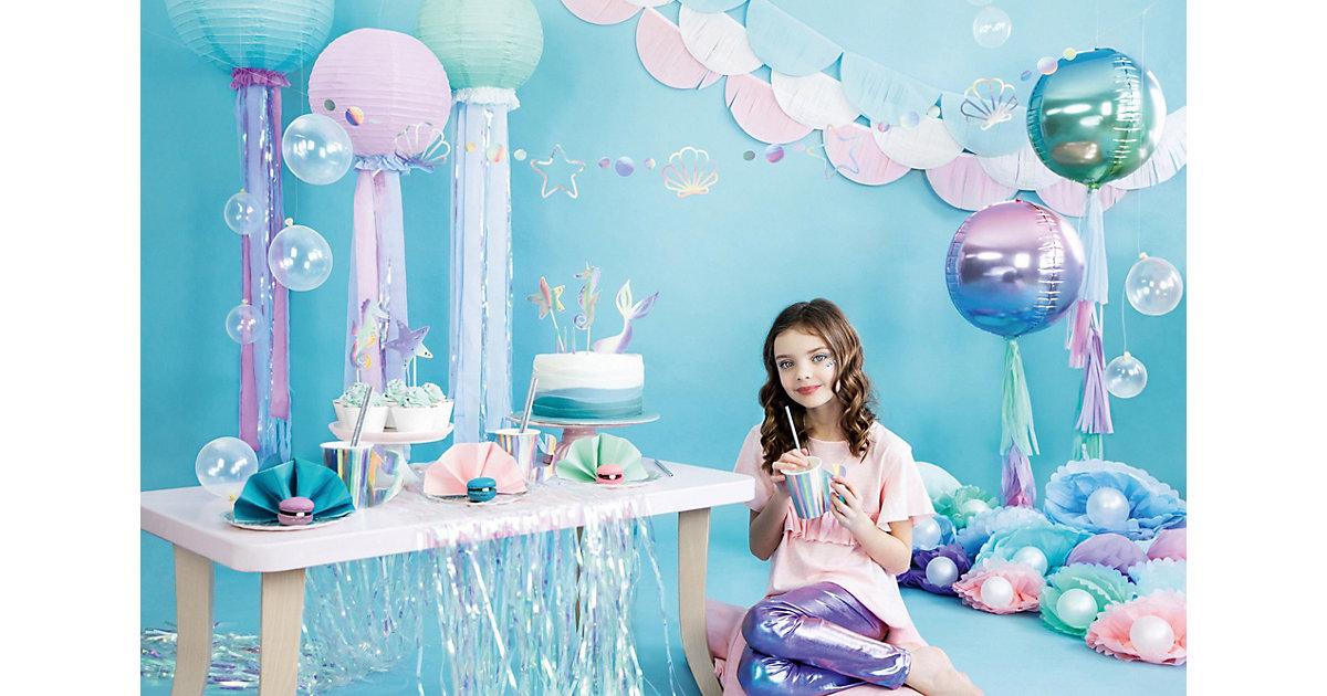 Let´s be Mermaid Party Box, Bis 12 Personen, mit Mermaid-Stift als Gastgeschenk bunt