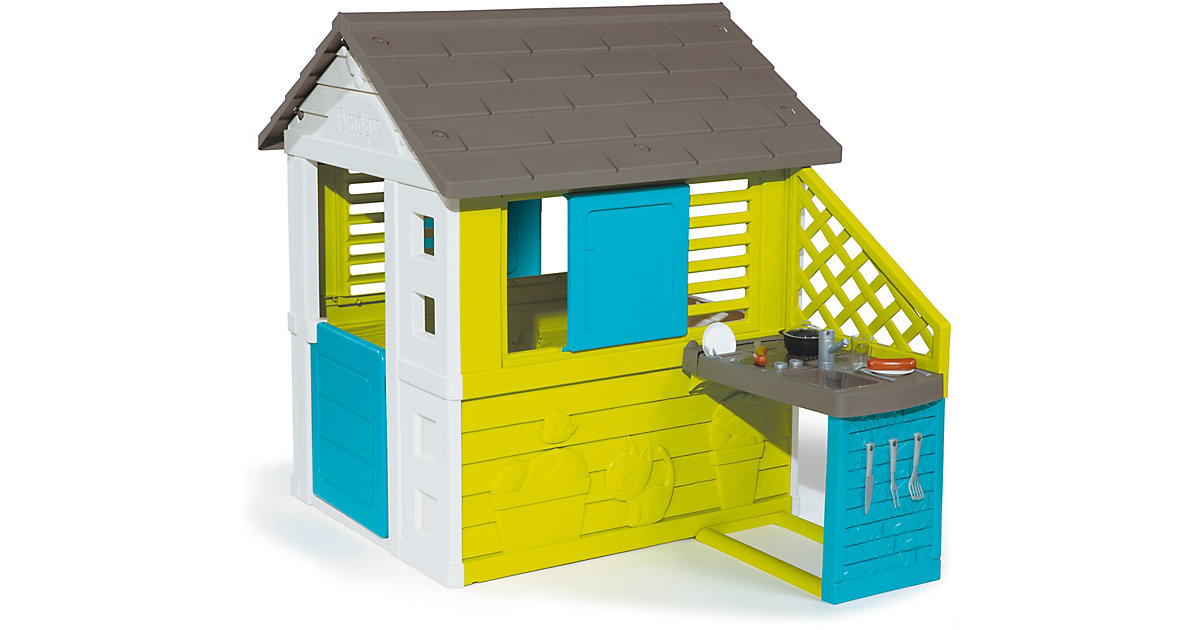 Pretty Haus mit Sommerküche grün/weiß