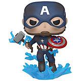 """Фигурка Funko POP! Bobble: Marvel: """"Мстители: Финал"""" Капитан Америка со сломанным щитом и молотом Мьельнир, 45137"""