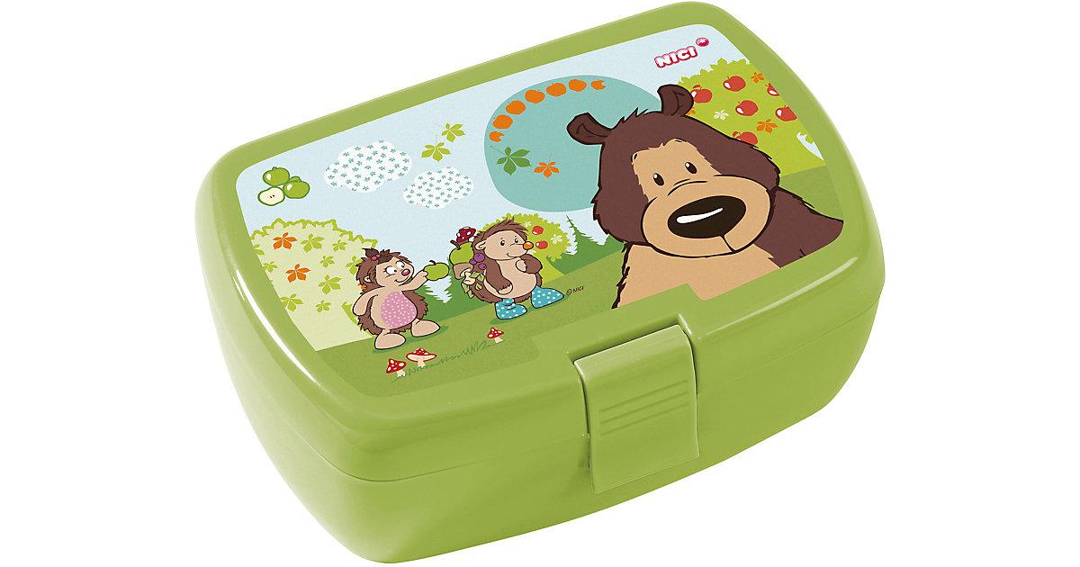 Brotdose Grizzlybär & Igel, inkl. Einsatz grün | Küche und Esszimmer > Aufbewahrung > Brotkasten | NICI