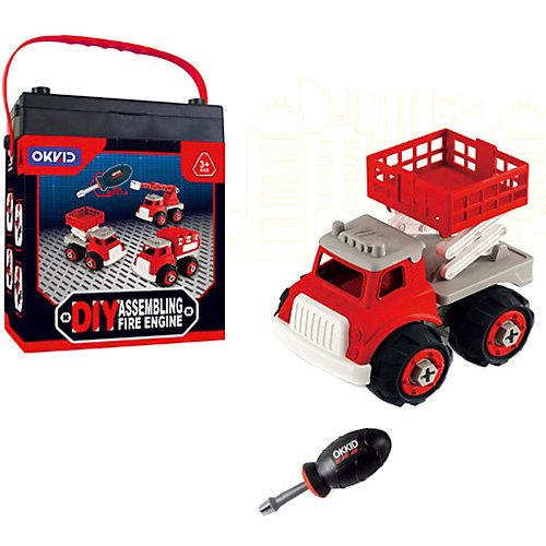 """Машинка-конструктор Junfa Toys """"Собери сам"""" Пожарная машина от Junfa Toys"""