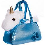 """Мягкая игрушка ABtoys """"Животные в сумочках"""" Единорог, 16 см"""