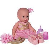 Кукла-пупс Junfa Toys в корзинке, с акссесуарами