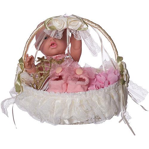 Кукла-пупс Junfa Toys в корзинке, с акссесуарами от Junfa Toys