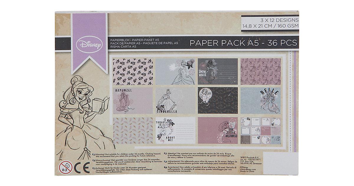 Disney Princess Papier Block A5, 36 Blätter 160 g