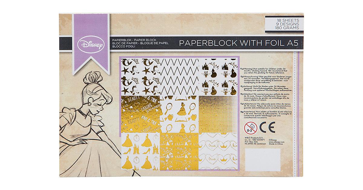 Disney Princess Folienpapier Block A5, 18 Blätter 180 g
