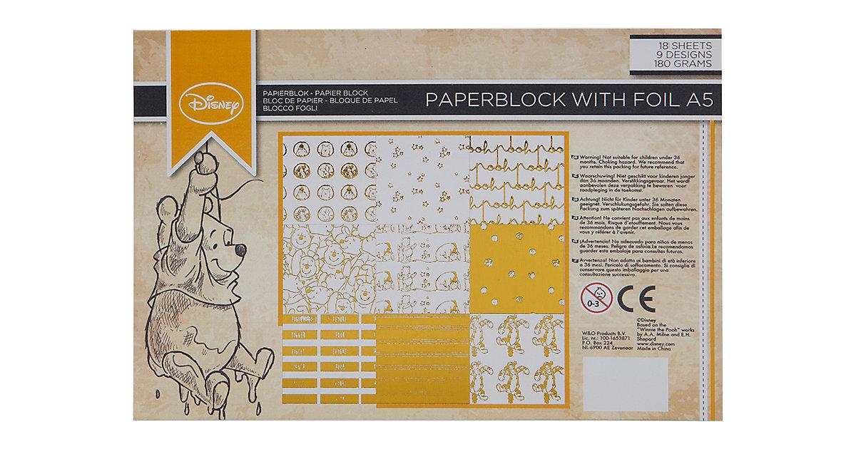 Winnie The Pooh Folienpapier Block A5, 18 Blätter 180 g