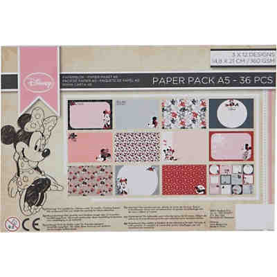 Minnie Mouse Papier Block A5, 36 Blätter 160 g