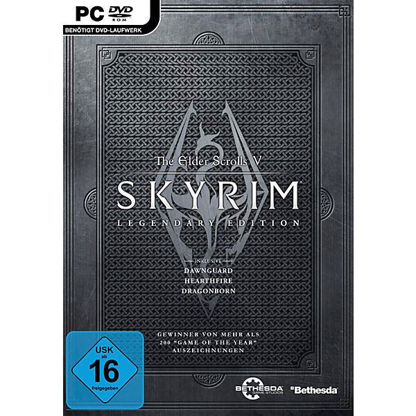 PC DVD Skyrim Legendary Edition