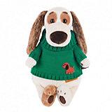 Одежда для мягкой игрушки Budi Basa Зеленый вязаный свитер с собачкой, 25 см