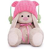 Мягкая игрушка Budi Basa Зайка Ми в розовой шапочке с помпонами, 18 см