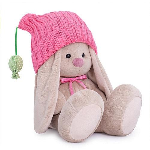 Мягкая игрушка Budi Basa Зайка Ми в розовой шапочке с помпонами, 18 см от Budi Basa