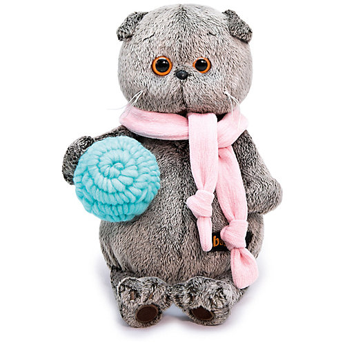 Мягкая игрушка Budi Basa Кот Басик в шарфике и с клубком, 30 см от Budi Basa