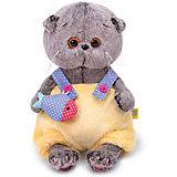 Мягкая игрушка Budi Basa Кот Басик BABY в меховом комбинезоне, 20 см