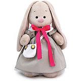 Мягкая игрушка Budi Basa Зайка Ми в платье и с сумкой-совой, 32 см