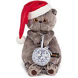 Мягкая игрушка Budi Basa Кот Басик и новогодний колпачок, 30 см