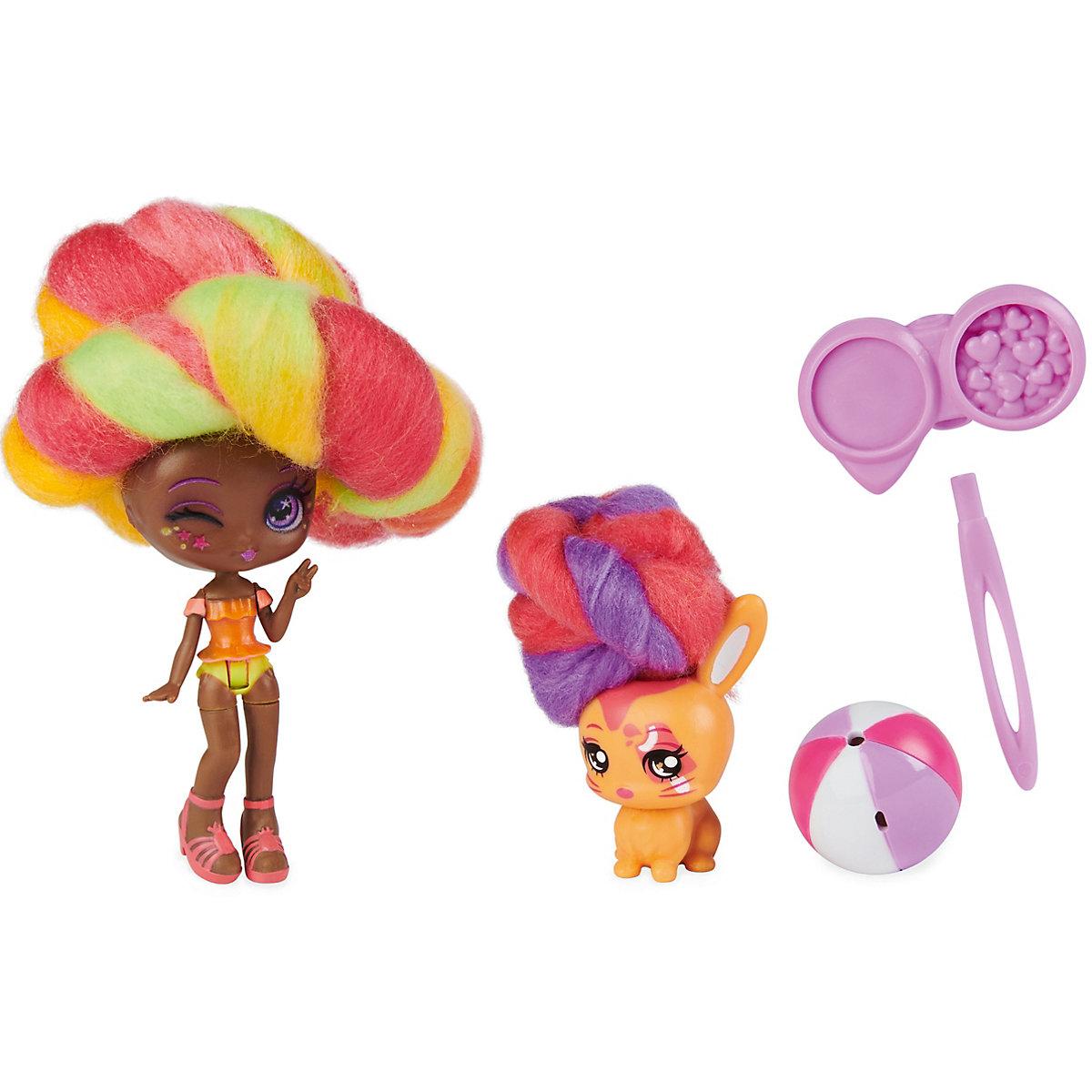 Candylocks - Doll and Pet / Margo Punch & Bridget Bunny Spin Master xpln7