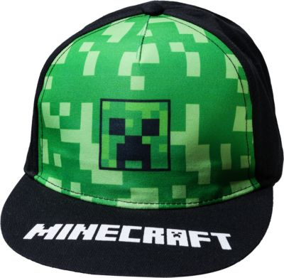 Minecraft Basecap Creeper zum Game Baumwolle schwarz