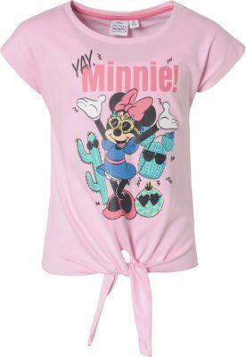 weiß-rot Dsney Baby Mädchen 68,80,86,92 Minnie Mouse T-Shirt weiß-pink