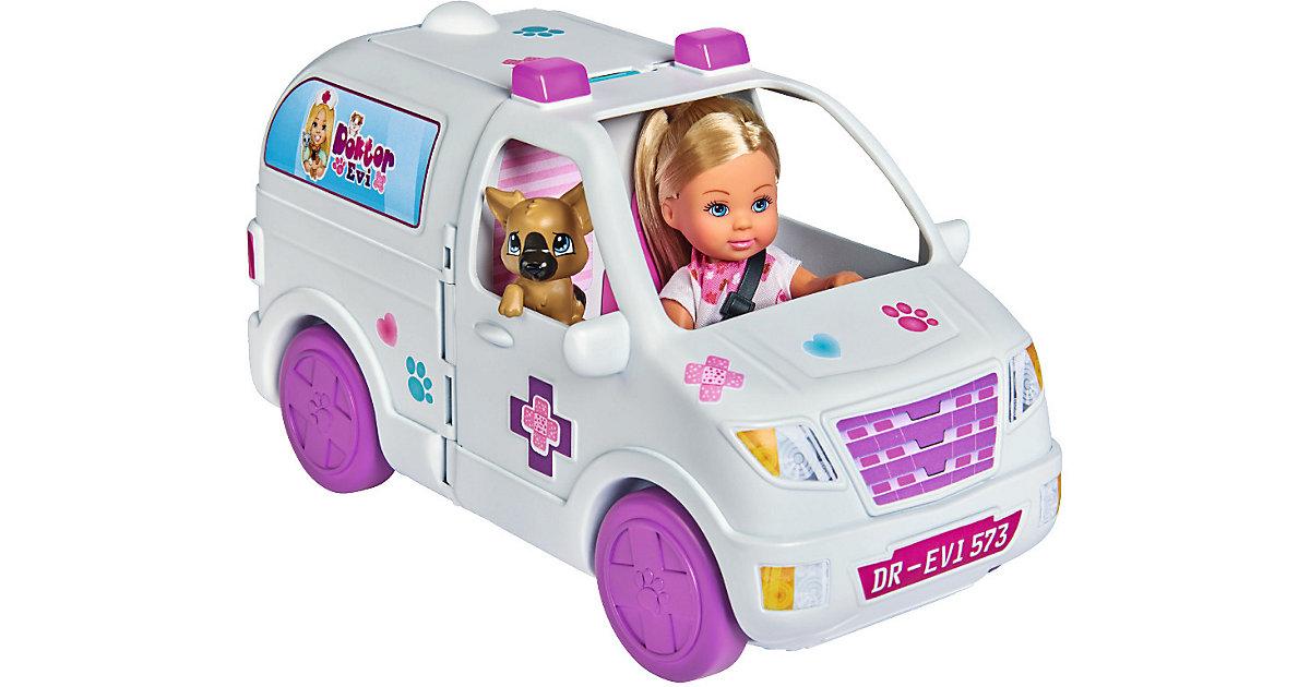 Evi LOVE Doktor Evi 2-in-1 Tiermobil weiß/beige