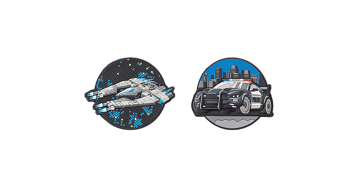 Patches Spaceship & Police Car mehrfarbig