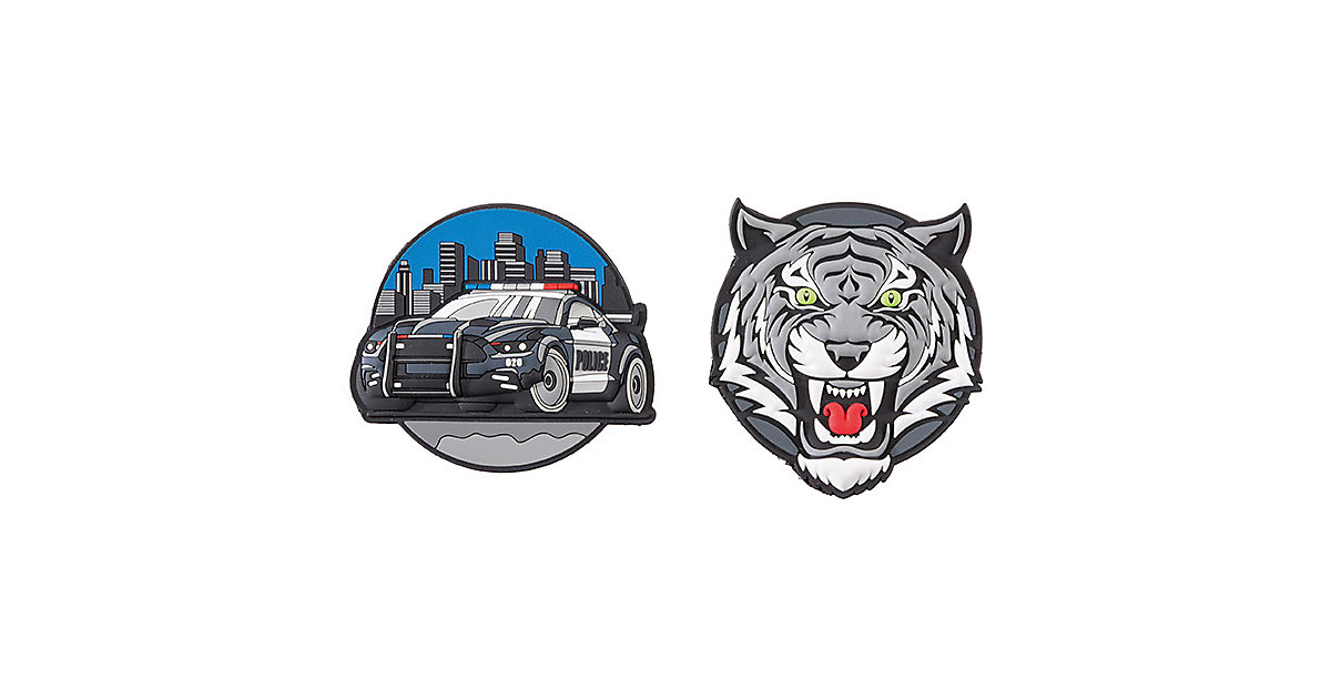 Patches Police Car & Tiger mehrfarbig