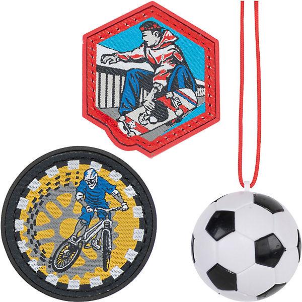 blue ninja Patches Schulranzen Sporttasche Scout Funny Snaps 3tlg