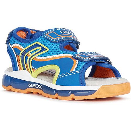 Сандалии Geox - синий/оранжевый от GEOX