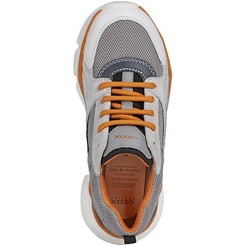 Кроссовки Geox - серый/оранжевый от GEOX