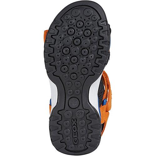 Сандалии Geox - оранжевый/черный от GEOX