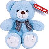 Мягкая игрушка Softoy Медведь голубой, 30 см